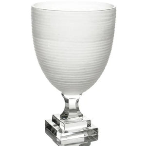 Medium Etched Glass Vase