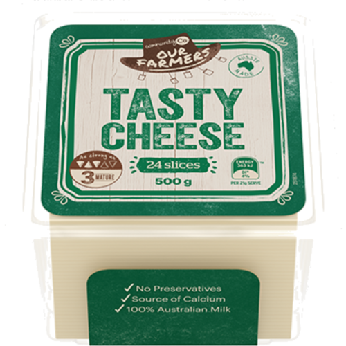 Community Co Tasty Cheese Slices 500g