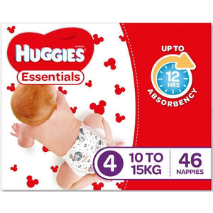 Huggies Essential Nappy Size 4 Toddler 10-15Kg 46/pack