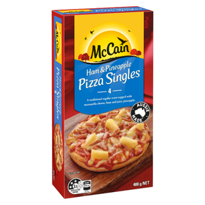 McCain Ham & Pineapple Pizza Singles 100g x 4