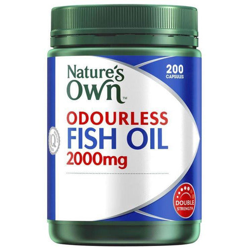 Natures Own Odourless Fish Oil 2000mg Capsule 200 Tablets