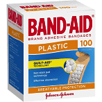 Band-Aid Plastic Strips 100pk