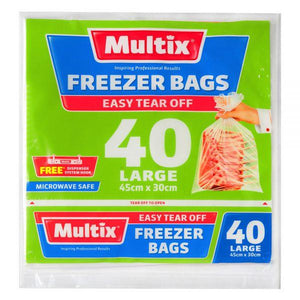 Multix Tear Off Freezer Bags - Large 40