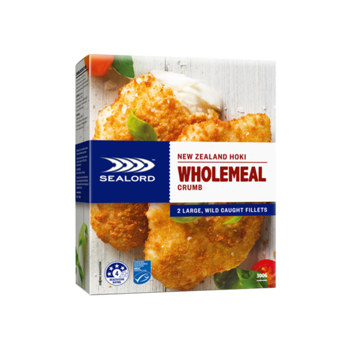 Sealord Premium Hoki Fillets Wholemeal 300g