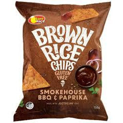 Sunrice Brown Rice Chips Smokehouse BBQ & Paprika 150g