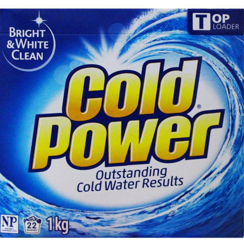 Cold Power Laundry Powder Bright White & Clean 1kg