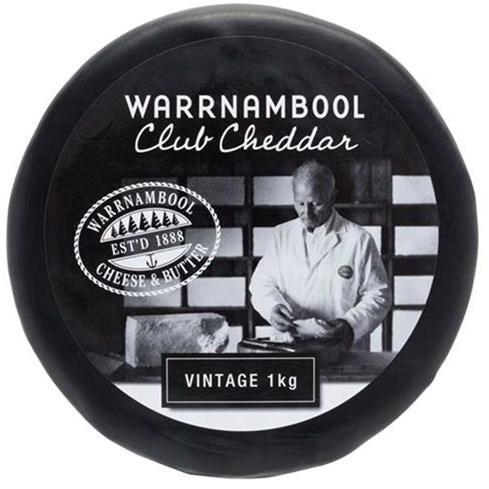 Warrnambool Club Cheddar 1kg