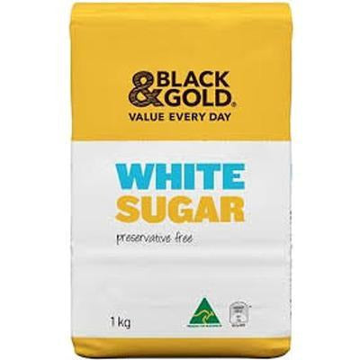 Black & Gold White Sugar 1kg