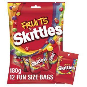 Skittles Fruits Lollies Party Share Bag 12pc 180g