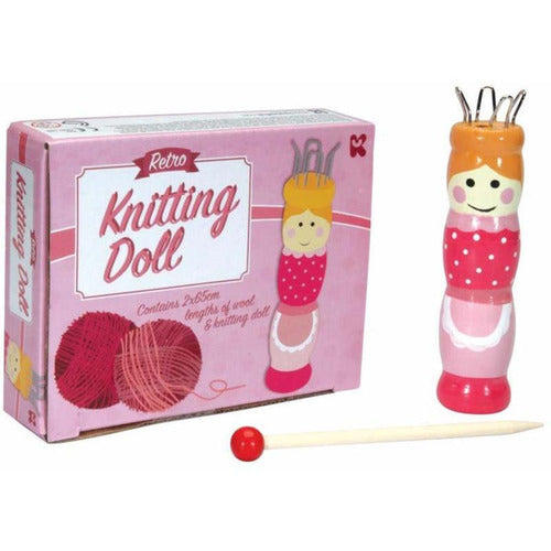 Retro Knitting Doll