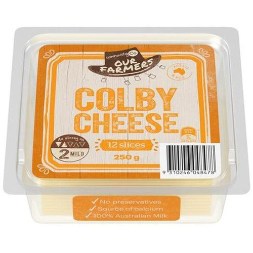 Community Co Colby Cheese Slices 250g