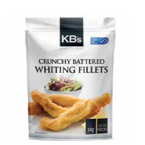 KB's Crunchy Battered Whiting Fillets 1kg