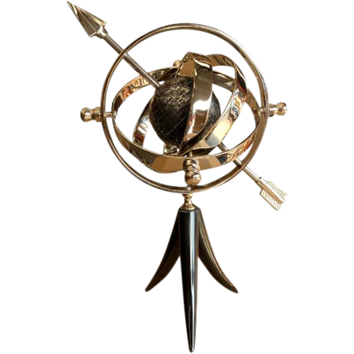 Armillary with Globe & Arrow