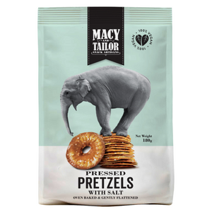 Macy & Tailor Pressed Pretzels 180g - Salt
