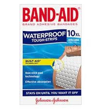 Band-Aid Tough Strips Waterproof XL 10 pk