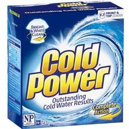 Cold Power Laundry Powder Bright White & Clean - 2kg Regular