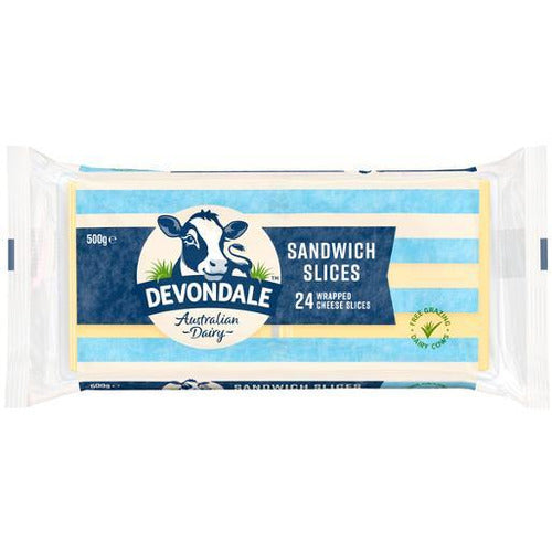Devondale Sandwich Cheese Slices 500g