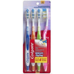 Colgate Toothbrush Zig Zag Assorted 4 Pack - Medium