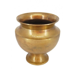 Gold Aluminium Vase Small