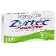 Zyrtec Tablets 10mg 10pk