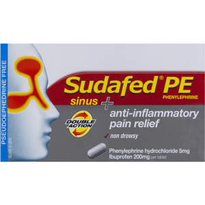 Sudafed PE Double Action Sinus Tablets 10pk