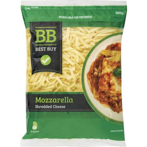 Best Buy Mozzarella Cheese Shredded 500g
