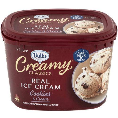 Bulla Creamy Classics Ice Cream 2lt - Cookies/Cream