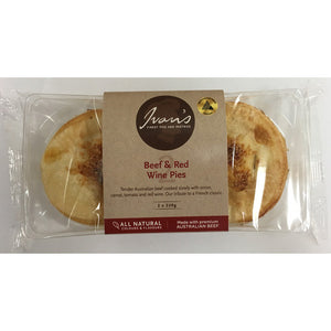Ivan's Beef & Red Wine Pies 220g x 2