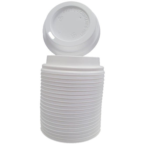 Campus&Co. Disposable Double Wall Coffee Cup White Lid 50/sleeve