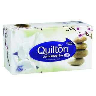 Quilton 3ply 110s White Facial Tissue