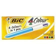 Bic Stationery - 4 Colour Pen 1 Pk
