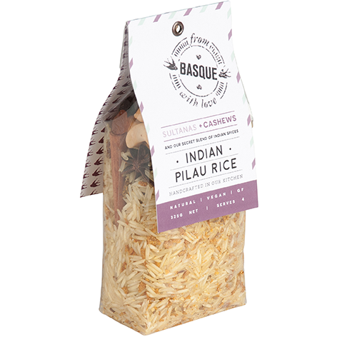Basque with Love Meal Sachet - Indian Pilau Basmati Rice