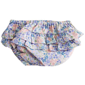 Ruffle Nappy Cover Liberty Blue