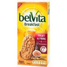 Belvita Fruit & Fibre with Fig  Breakfast Biscuits 300g