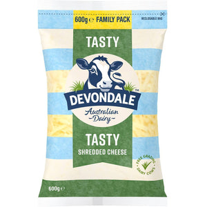 Devondale Shredded Tasty Grated Cheese 600g