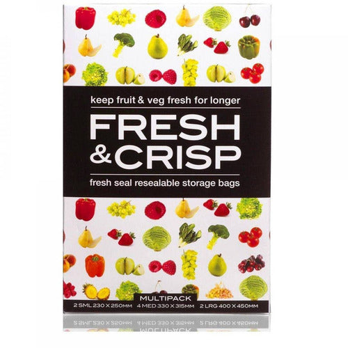 Fresh & Crisp Vegetable Storage Bags Multi 8pk