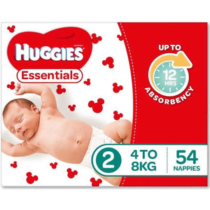 Huggies Essential Nappy Size 2 Infant 4-8kg 54pk
