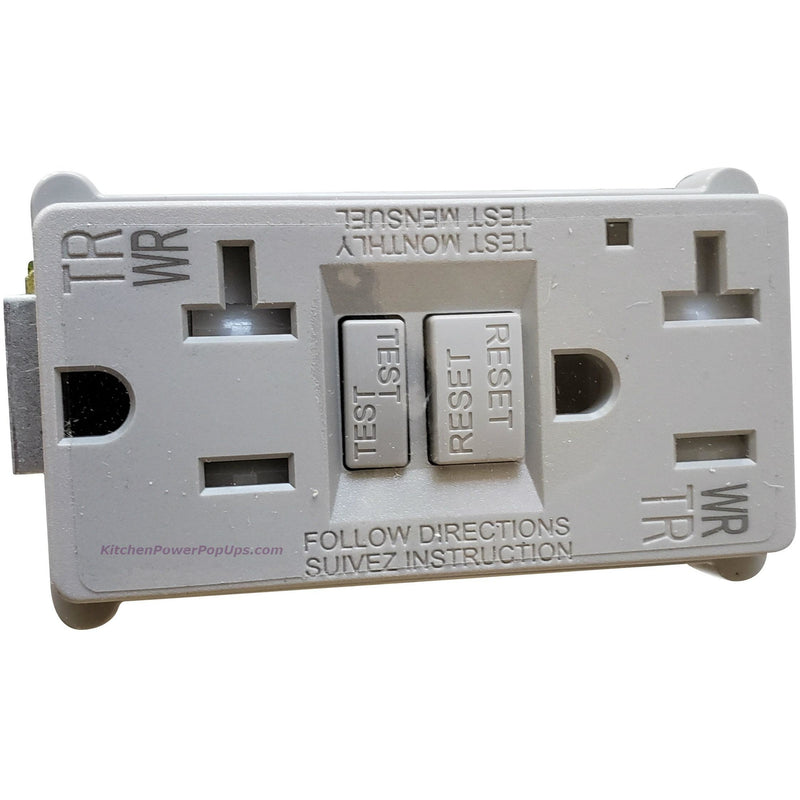 PUFP-CT Replacement Gray GFI 20A Outlet