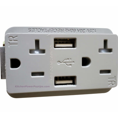 PUFP-CT Replacement Gray USB 20A Outlet