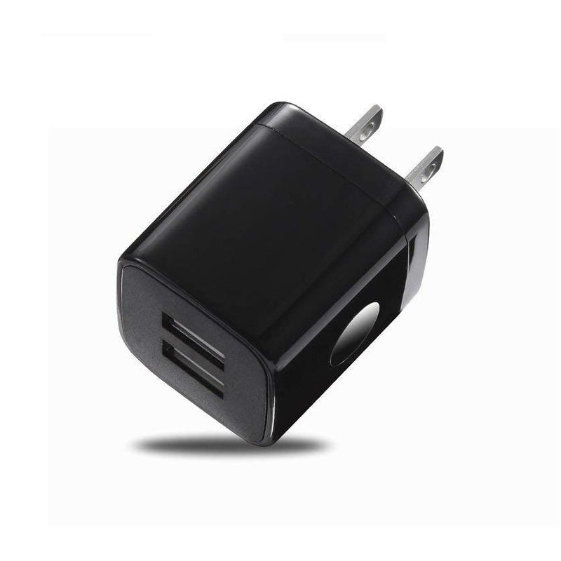2 Port Cube USB Wall Charger - Black