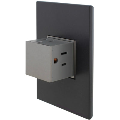 Adorne Magnesium 15A Pop-Out with Graphite Wall Plate