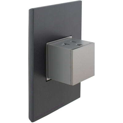 Adorne Magnesium Pop-Out with Graphite Wall Plate