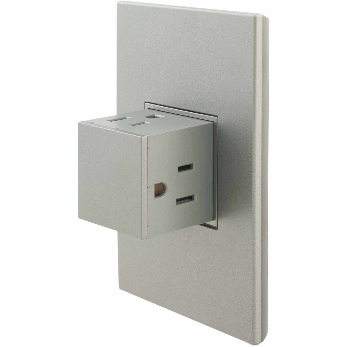 Adorne 1 Gang Pop Out 15a Outlet W Matching Wall Plate Kit Magnesium Kitchen Power Pop Ups