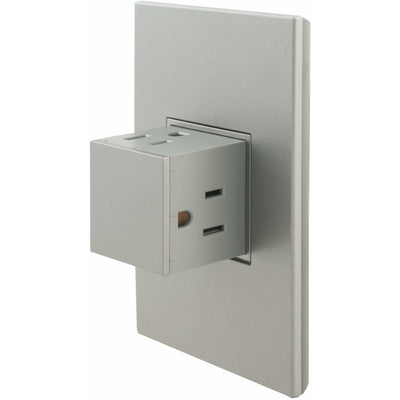 Adorne 15A Pop-Out Outlet with Matching Magnesium Wall Plate