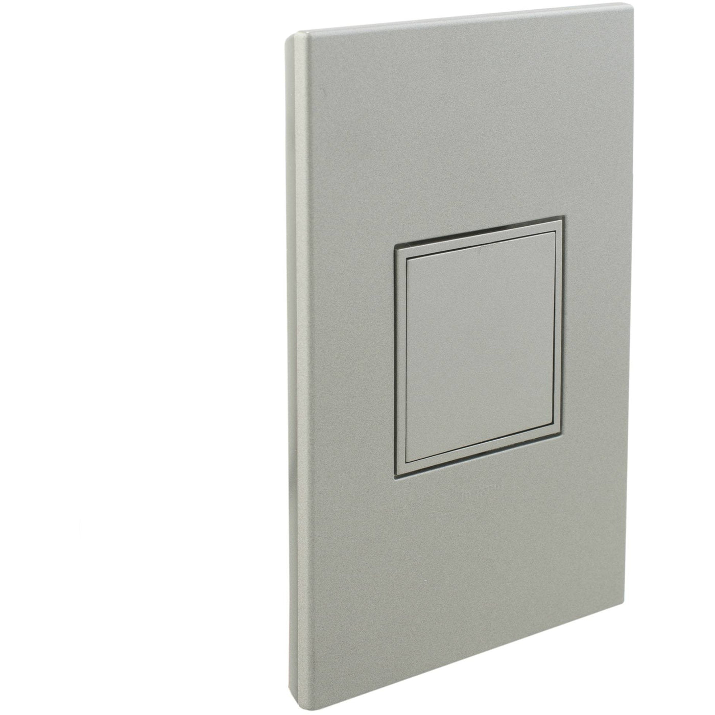 Adorne Pop Out 20A Outlet With Matching Wall Plate Kit Magnesium Closed