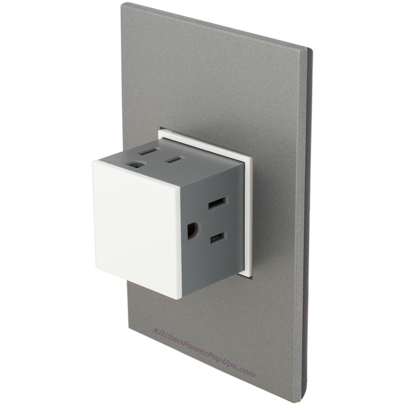 Adorne Gloss White 15A Pop-Out with Magnesium Wall Plate