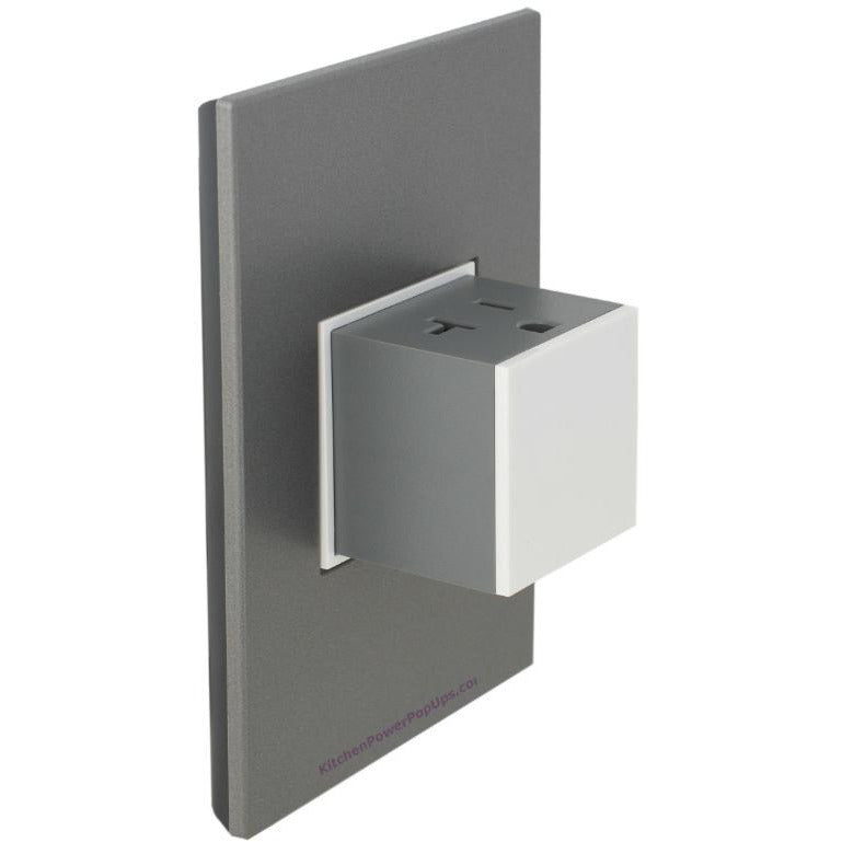 Adorne Gloss White 20A Pop-Out with Magnesium Wall Plate