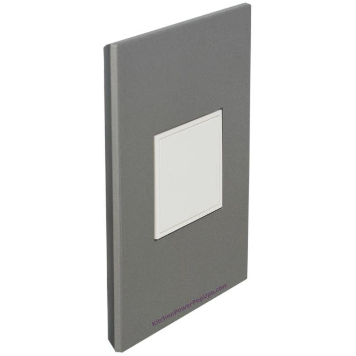Adorne Pop-Out Magnesium Wall Plate and White Outlet - Closed