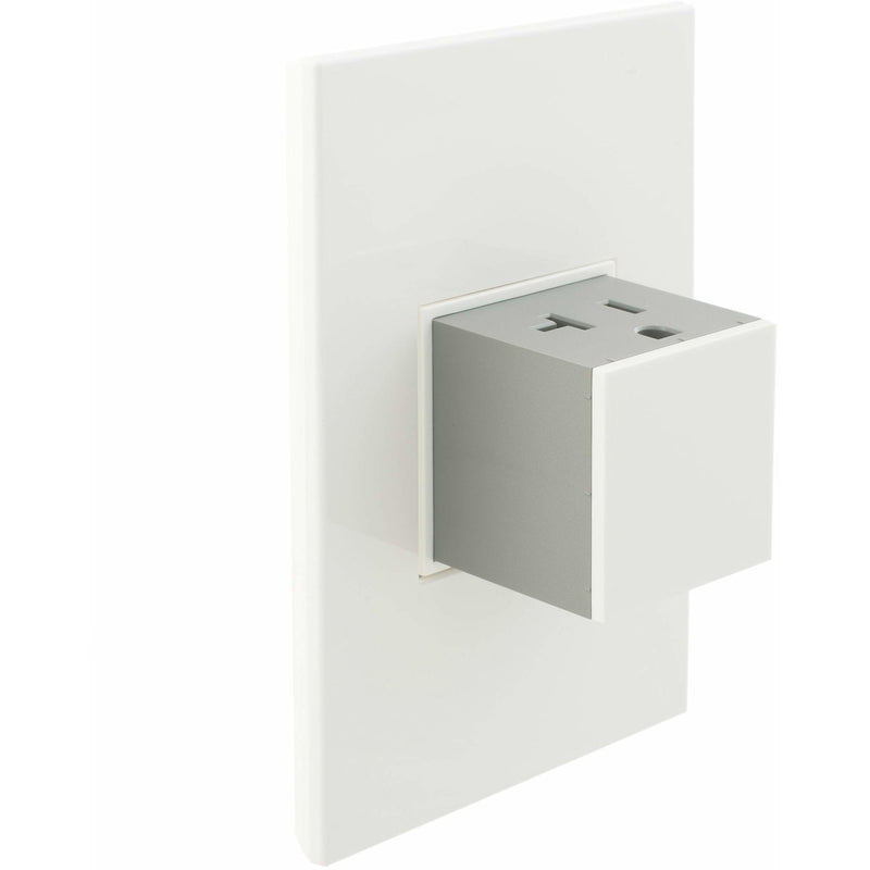 Adorne Pop-Out 20A Outlet with Matching Wall Plate Kit, Gloss White