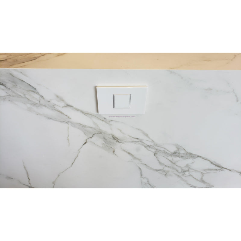 Adorne Gloss White Pop Out 20A Outlet on Side of Island
